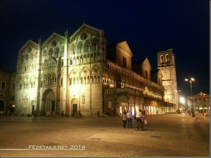 La nuova illuminazione di Piazza Trento Trieste, Ferrara