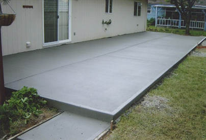 patio de concreto
