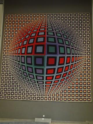 Oeuvre exposée à la Fondation Vasarely à Aix-en-Provence