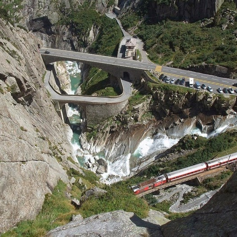 Teufelsbrücke, The Devil's Bridge in Switzerland