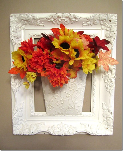 Fall Flowers Wall Pocket