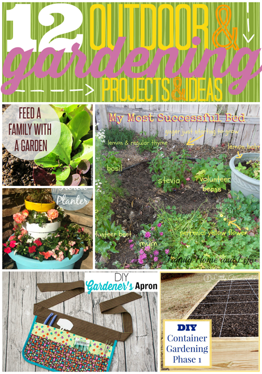 12 Outdoor & Gardening Projects & Ideas at GingerSnapCrafts.com #linkparty #gardening #features