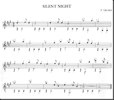 Noche de paz silent night partitura guitarra