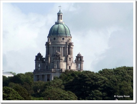 The Ashton Memorial Folly. Built by Lord Ashton for his late wife.  Built in 1909 it's used as an exhibition & concert hall.