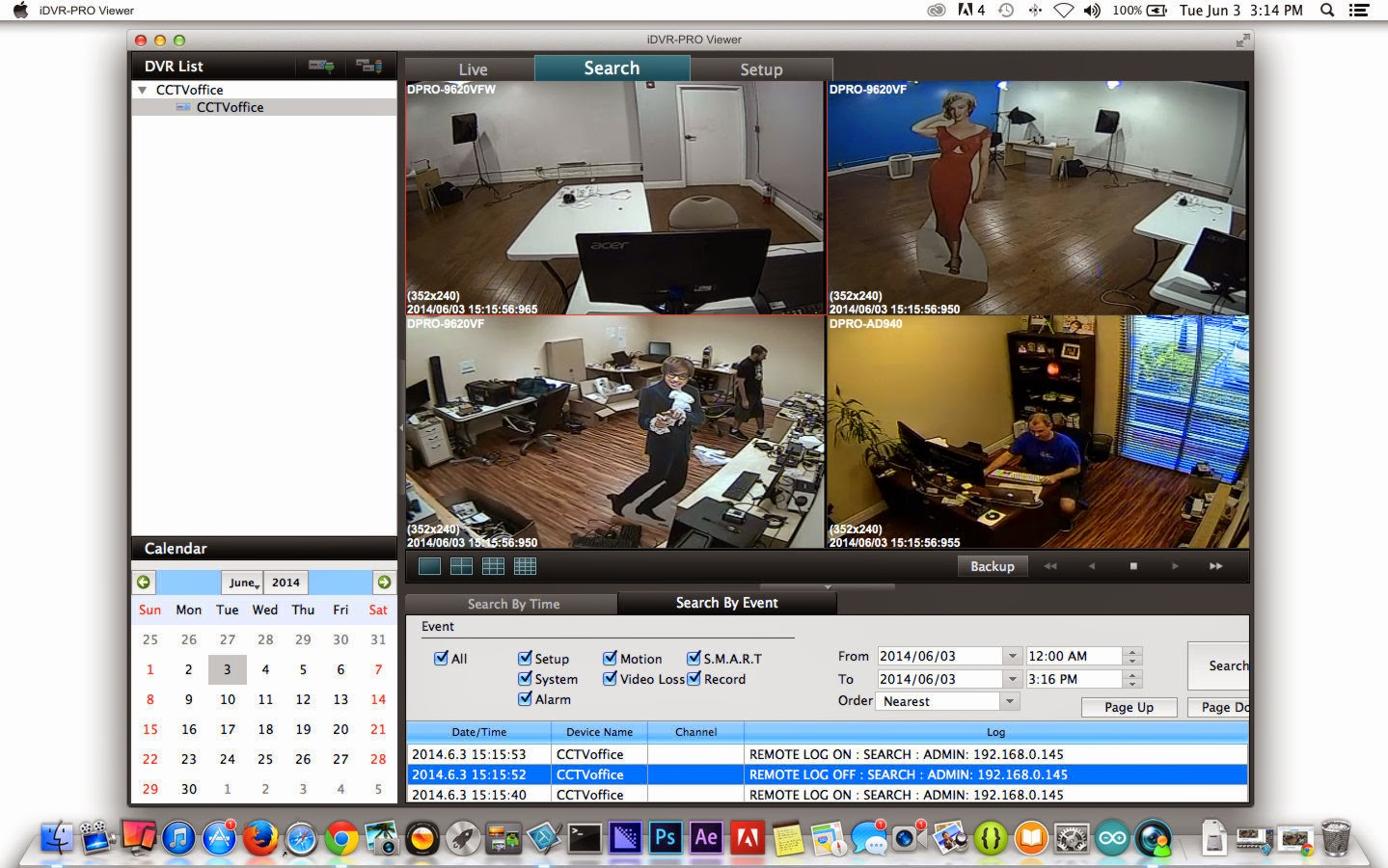 View Cctv Security Cameras From Mac Software With Idvr Pro