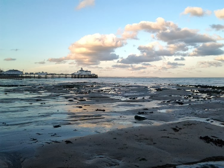 low tide from the pier
