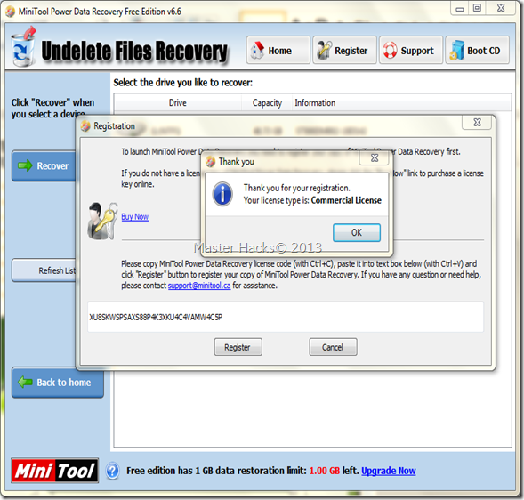 MINITOOL POWER DATA RECOVERY 6 6 FULL VERSION WITH SERIAL