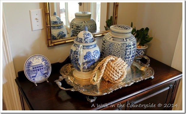 Blue and White in the Foyer