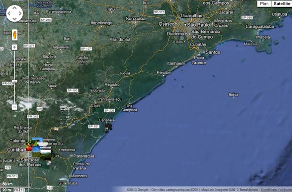 Le littoral et la Serra do Mar : états de São Paulo et du Paraná(et localisation des photos)