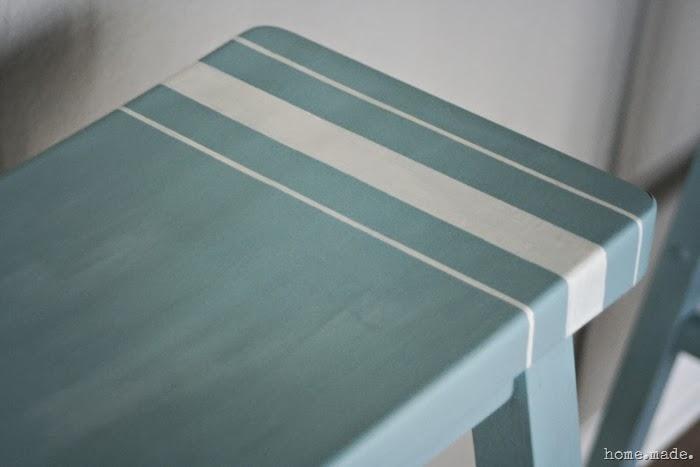 Grain Sack Stripe Barstool Detail