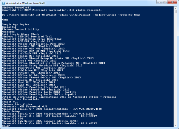 powershell-list