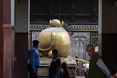 Statuia bivolului de la Pashupatinath Kathmandu