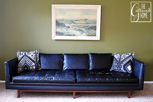 black mid century sofa 3