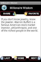 Screenshot of Millionaire Wisdom - Free