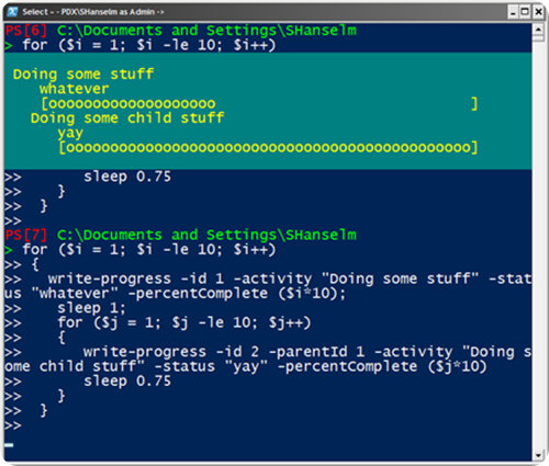 PowerShell Progress