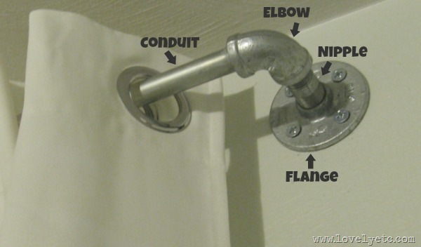 Curtain Rod From Plumbing Parts