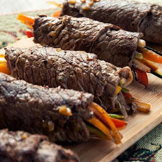 Balsamic Steak Rolls.