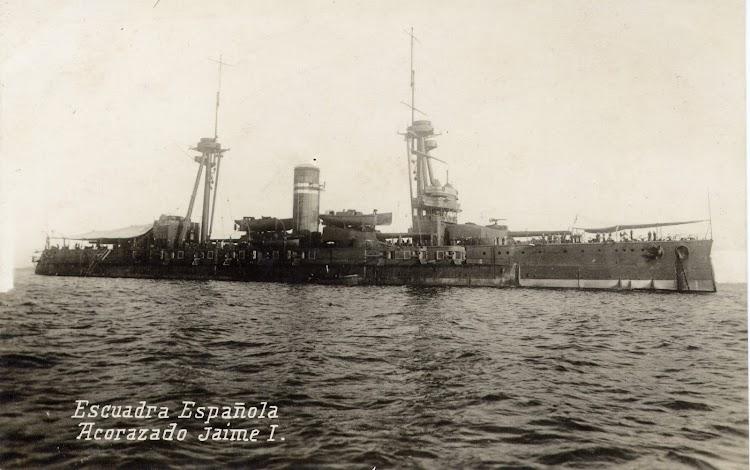 El JAIME I en Vigo. Coleccion Juan Antonio Padron Albornoz. Universidad de La Laguna. Puerto Autonomo de Tenerife.jpg