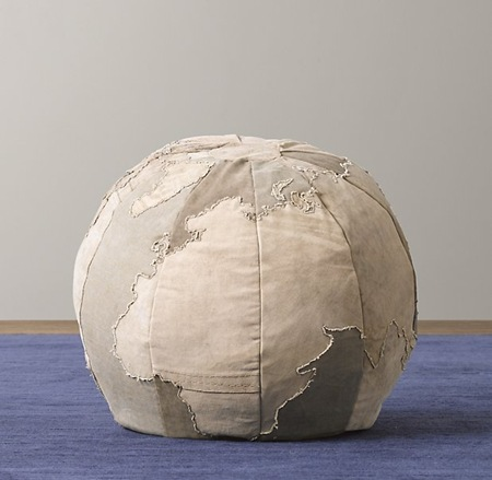 restoration hardware pouf