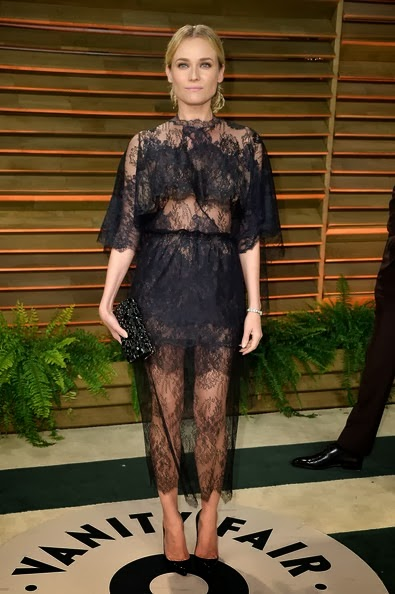 Diane Kruger attends the 2014 Vanity Fair Oscar Party