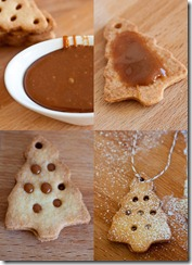 Cookie trees with caramel filling