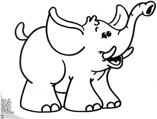 Dibujo Elefante Para Colorear E Imprimir: ELEFANTE PARA COLOREAR