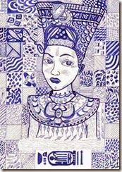 274 Zentangle Nefertiti
