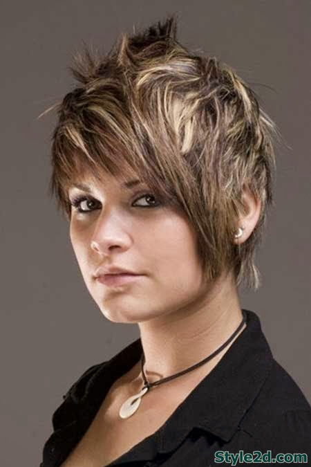 Terrific Pixie Brown Hair With Blonde Highlights Short Hair Fashions Hairstyles For Men Maxibearus