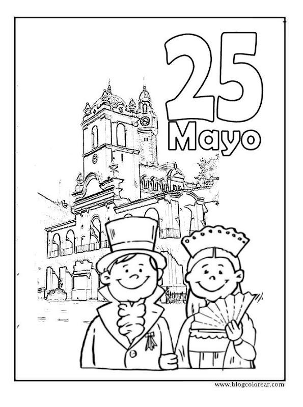 Colorear Dibujos 25 De Mayo Argentina Colorear Dibujos Infantiles