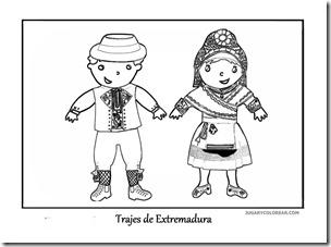 Colorear Trajes Folclóricos De Extremadura