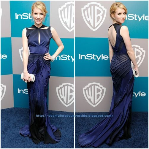 Emma Roberts arrives at 13th InStyle Golden Globe Awards After Party2