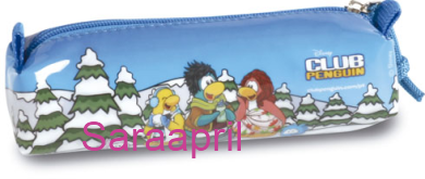 Club Penguin Blue Soft Case 6x20x5 cm :)