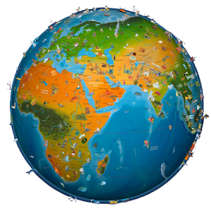 world map atlas 2015 App icon