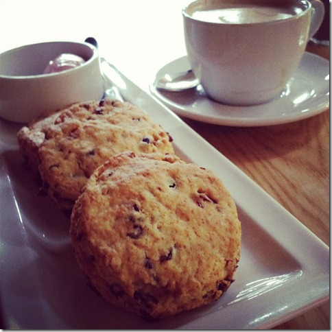 coffee & scones...cafe zoe