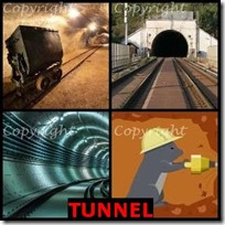 TUNNEL- 4 Pics 1 Word Answers 3 Letters