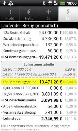 Gehaltsrechner Pro (Lizenz) screenshot