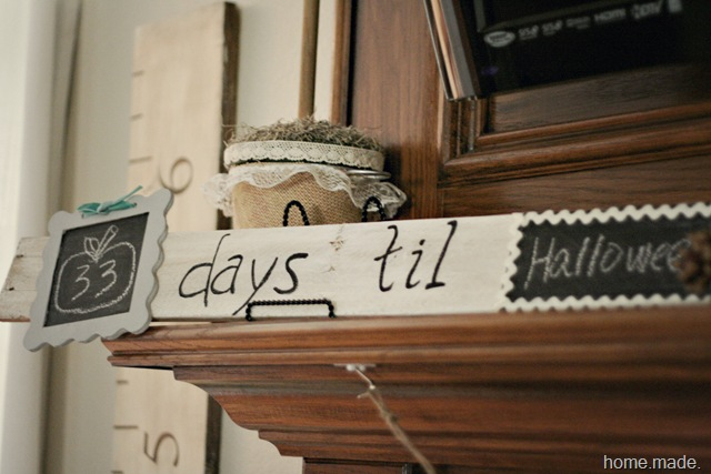 holiday countdown pallet board