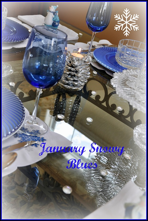 Jan Icey Blue Snowmen Table 023 PM