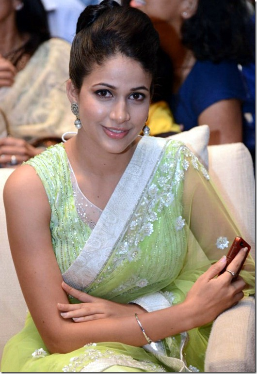 Actress Lavanya Tripathi in Yellow Green Saree Hot Photos