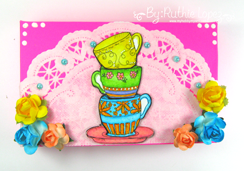Rhoda Designs. Stack of Tea Cups. Gift Card Holder. Ruthie Lopez. My Hobby My Art