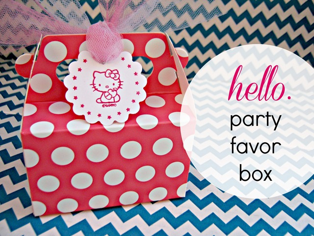 hello kitty party favor box