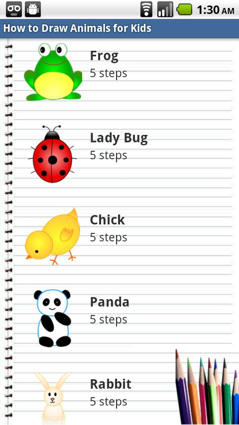 How to Draw Animals for Kids- screenshot