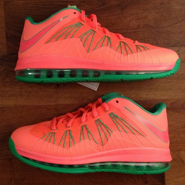 sports shoes c8d3f b9ae3 First Look at Nike Air Max LeBron X Low 8220Watermelon8221