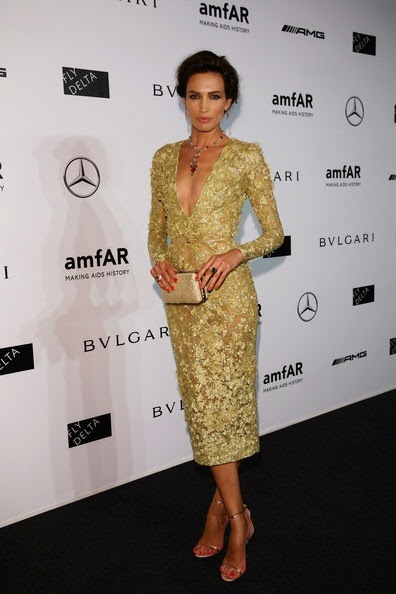 Nieves Alvarez attends the amfAR Milano 2014