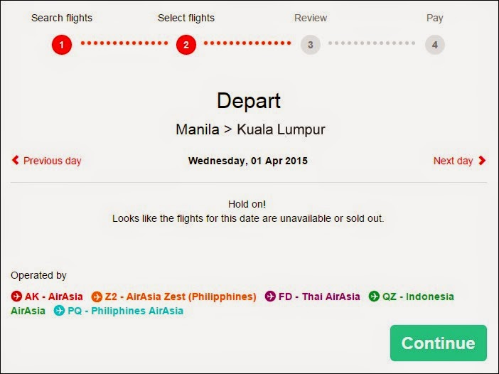 No Available Flights for an AirAsia Asean Pass