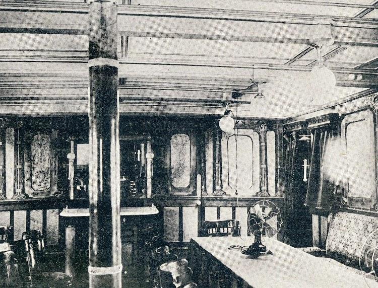 Otra vista de la cámara de 1ª clase. De la revista La Vida Marítima. Año 1.904.JPG