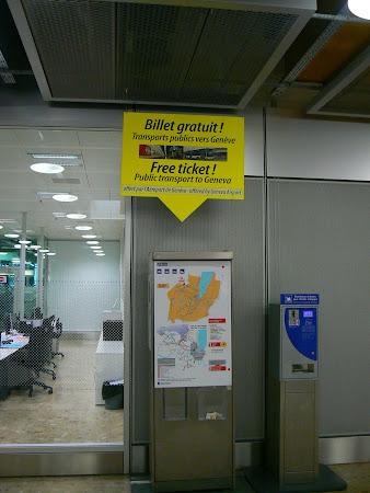 Automat bilet gratuit Geneva