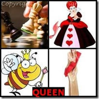 QUEEN- 4 Pics 1 Word Answers 3 Letters