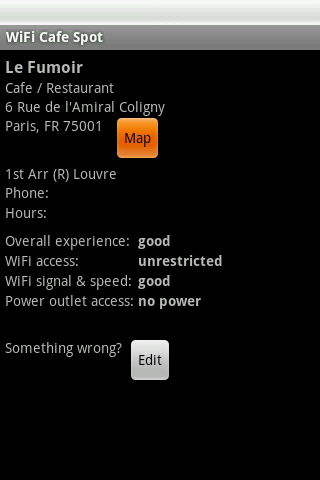 Paris Free WiFi- screenshot