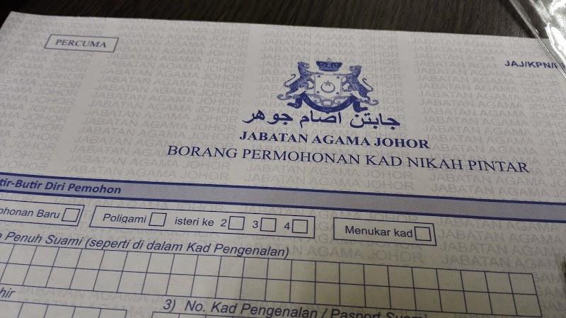 Kad Nikah Pintar Johor